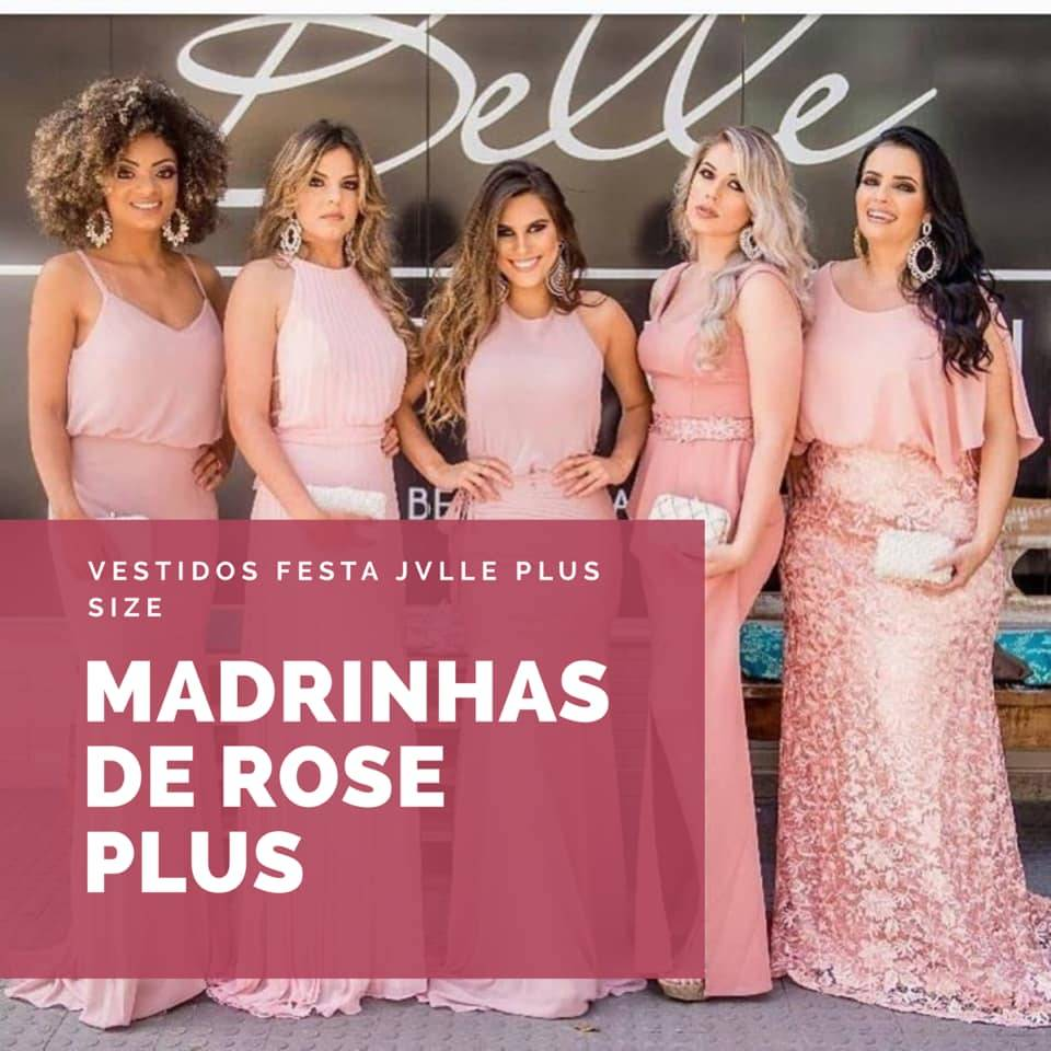 Madrinhas de Rose Plus Size