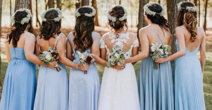 Vestidos de Festa Azul Serenity