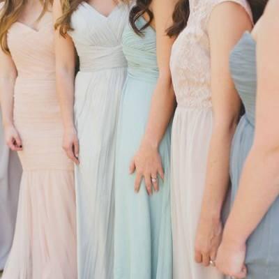 Locação de Vestidos de Festa Rosa Quartz e Azul Serenity